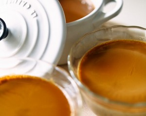 メープルラムシロップのコーヒー牛乳プリン