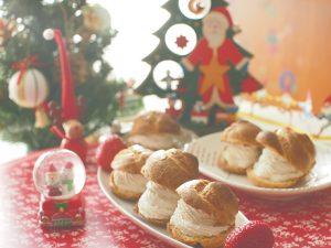 クリスマスのメープルシュークリーム